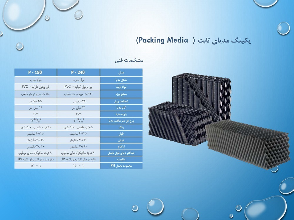 (Fixed Packing Bed) پکینگ مدیای ثابت